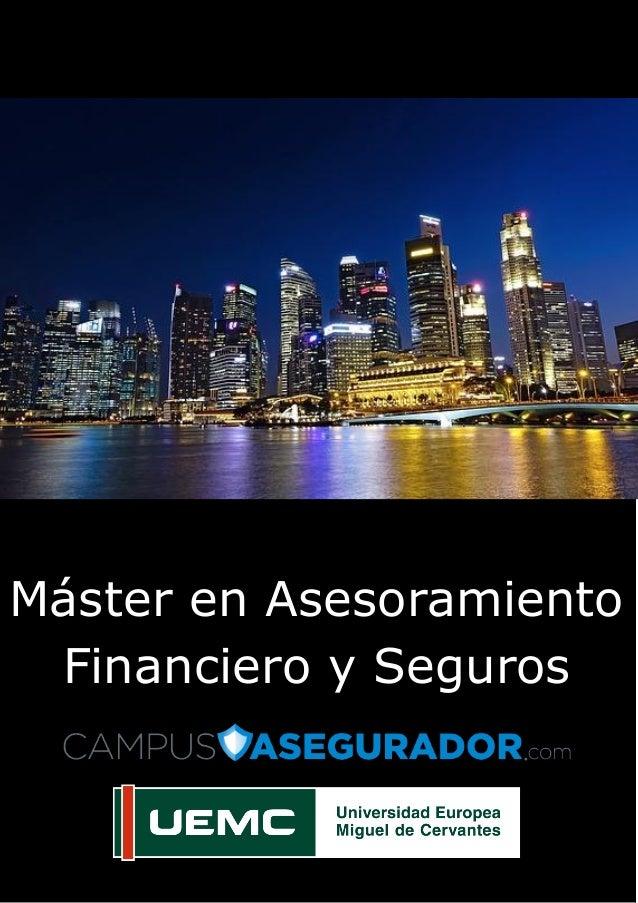 Página | 1 Máster e Máster en Asesoramiento Financiero y Seguros