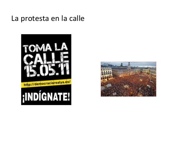La protesta en la calle