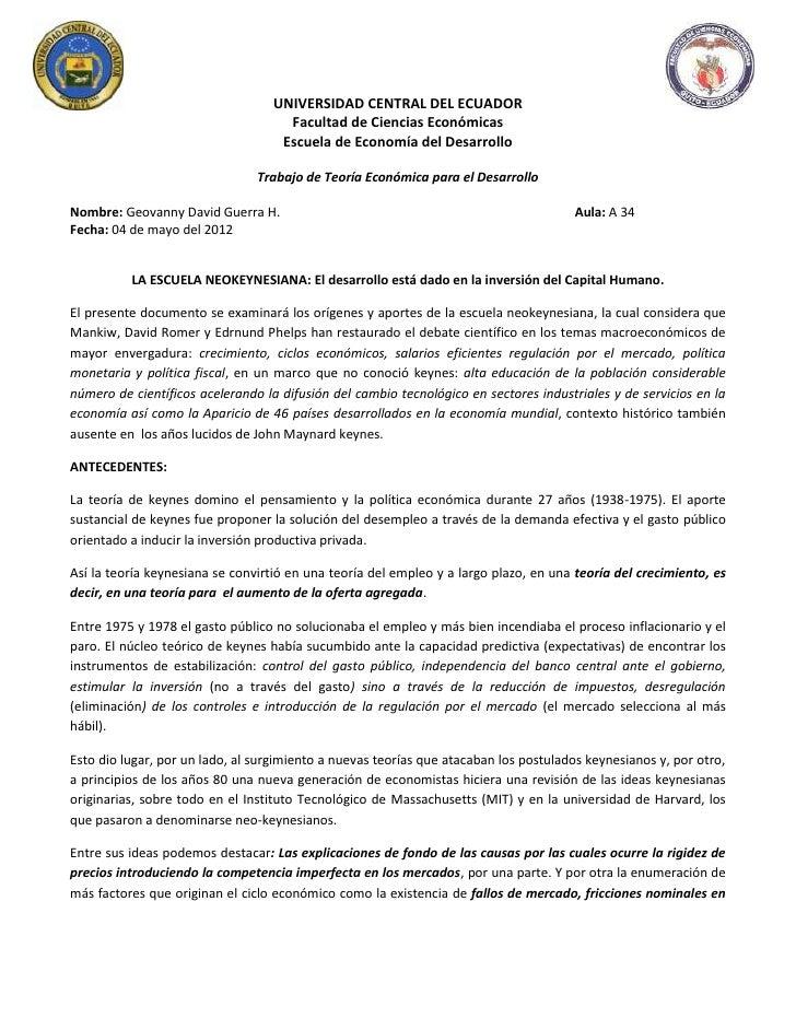 UNIVERSIDAD CENTRAL DEL ECUADOR                                     Facultad de Ciencias Económicas                       ...