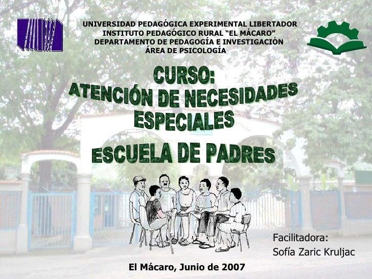 """UNIVERSIDAD PEDAGÓGICA EXPERIMENTAL LIBERTADOR         INSTITUTO PEDAGÓGICO RURAL """"EL MÁCARO""""       DEPARTAMENTO DE ..."""