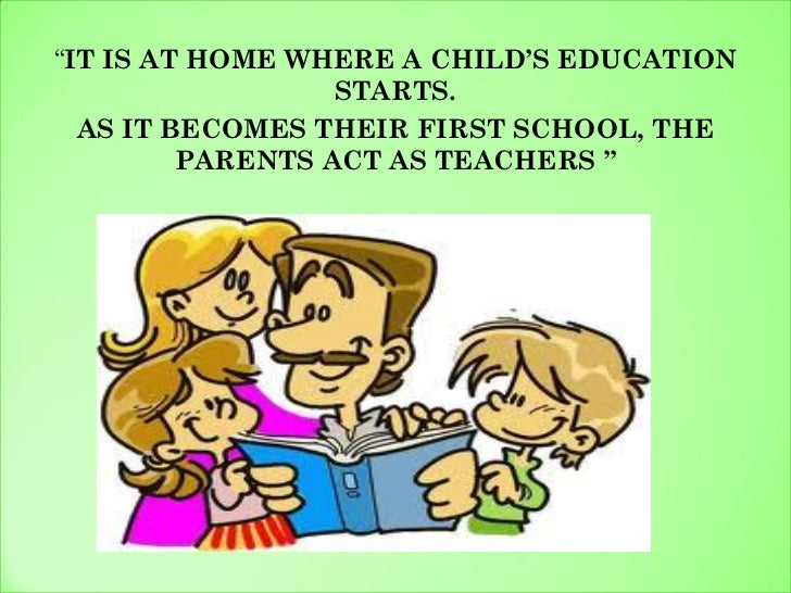 education starts from home