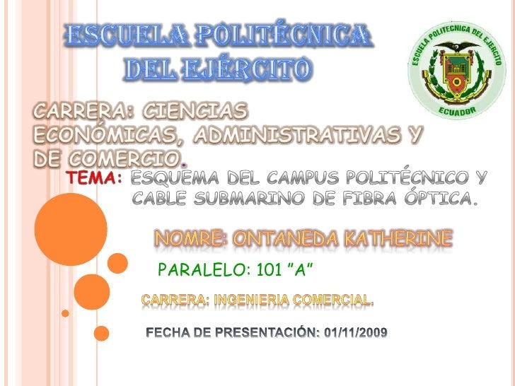 ESCUELA POLITÉCNICA DEL EJÉRCITO<br />CARRERA: CIENCIAS ECONÓMICAS, ADMINISTRATIVAS Y DE COMERCIO. <br />TEMA: ESQUEMA DEL...