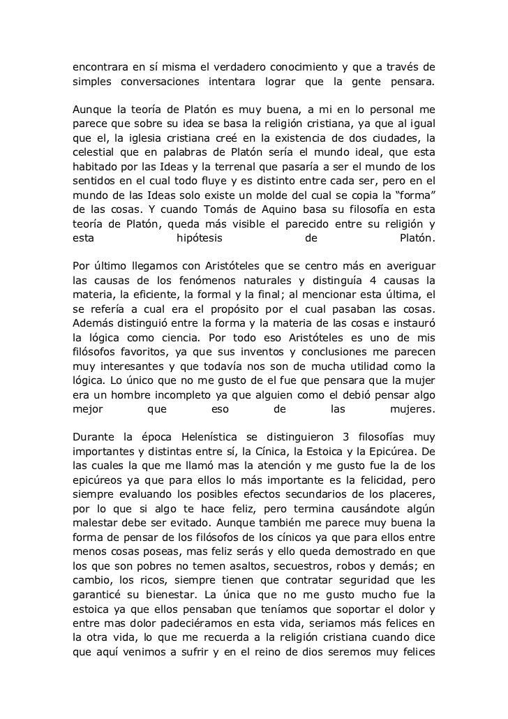 Ensayo del Libro 'El Mundo de Sofia'