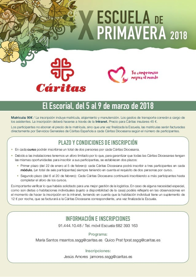 Escuela de Primavera 2018 - Cáritas Española