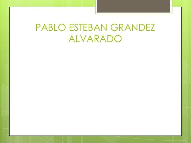 PABLO ESTEBAN GRANDEZ ALVARADO