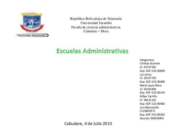 República Bolivariana de Venezuela Universidad Yacambú Faculta de ciencias administrativas Cabudare – Mora Integrantes: Ci...