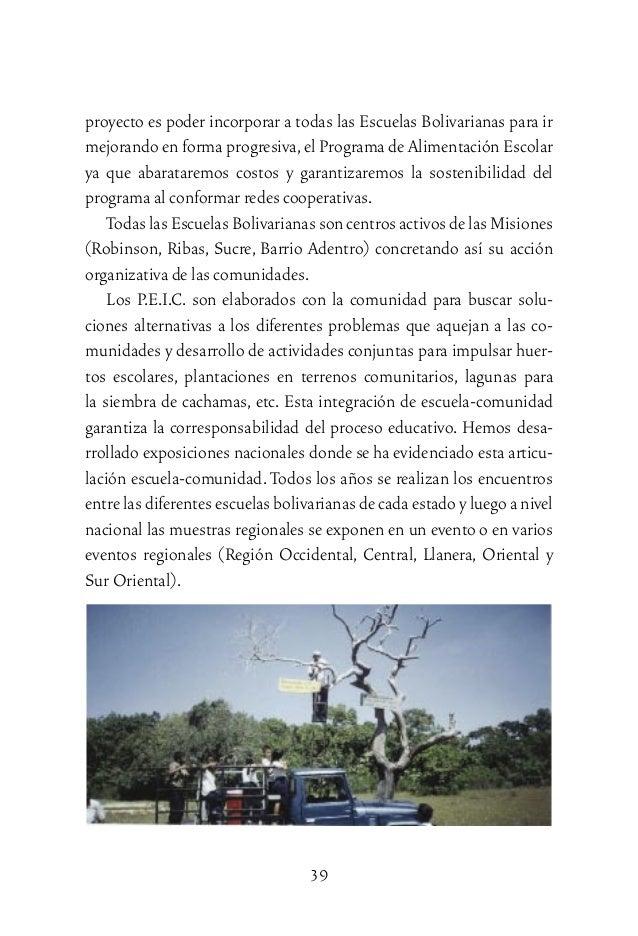 Escuelas bolivarianas Lagunas para cachamas