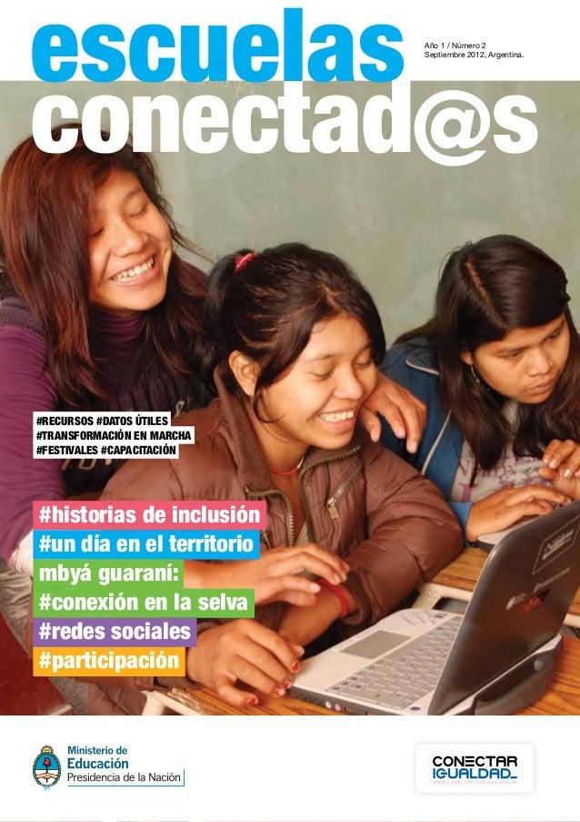 escuelas                    Año 1 / Número 2                            Septiembre 2012, Argentina.#recursos#datosútiles...