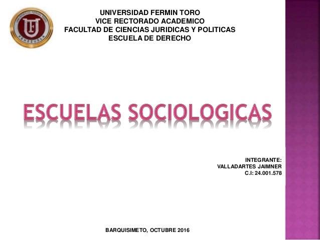 UNIVERSIDAD FERMIN TORO VICE RECTORADO ACADEMICO FACULTAD DE CIENCIAS JURIDICAS Y POLITICAS ESCUELA DE DERECHO INTEGRANTE:...