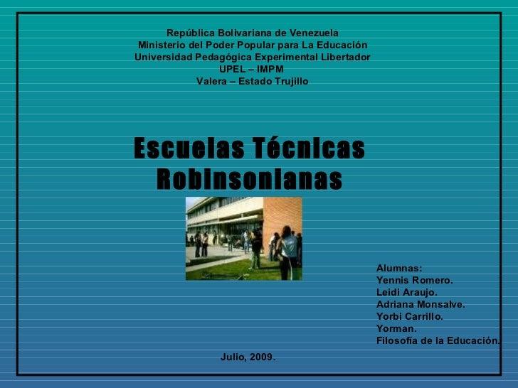 República Bolivariana de Venezuela Ministerio del Poder Popular para La Educación Universidad Pedagógica Experimental Libe...