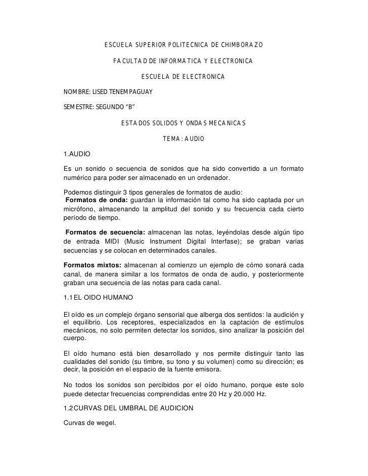 ESCUELA SUPERIOR POLITECNICA DE CHIMBORAZO                  FACULTAD DE INFORMATICA Y ELECTRONICA                         ...