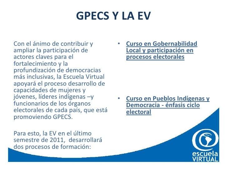 Cursos Escuela virtual PNUD en temas electorales para indigenas  Slide 3