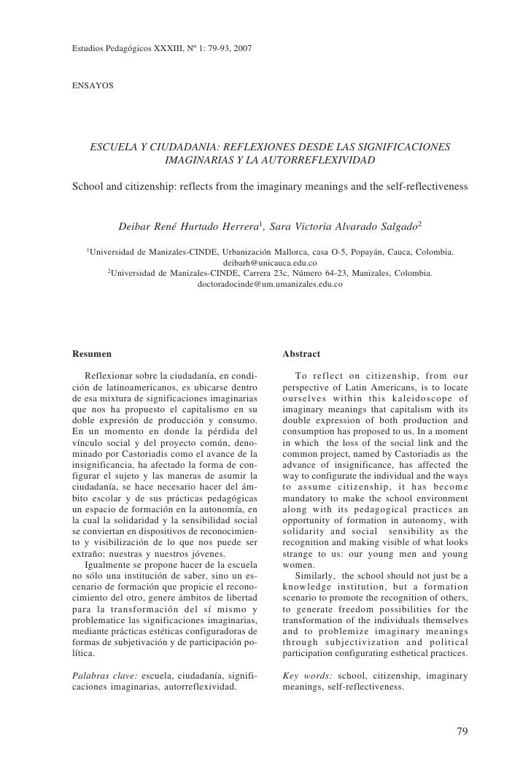 Estudios Pedagógicos XXXIII, Nº 1: 79-93, 2007          Estudios Pedagógicos XXXIII, Nº 1: 79-93, 2007                   E...