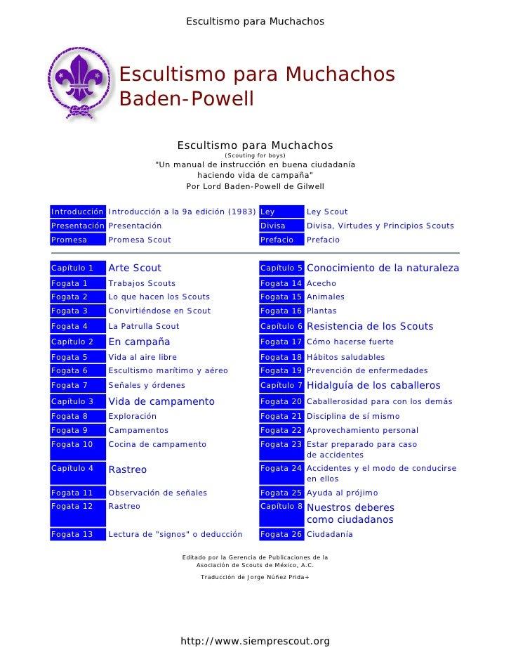 Escultismo para Muchachos               Escultismo para Muchachos               Baden-Powell                              ...