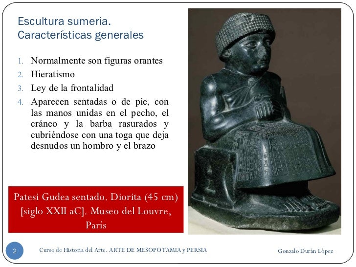 Escultura de Mesopotamia y Persia Slide 2
