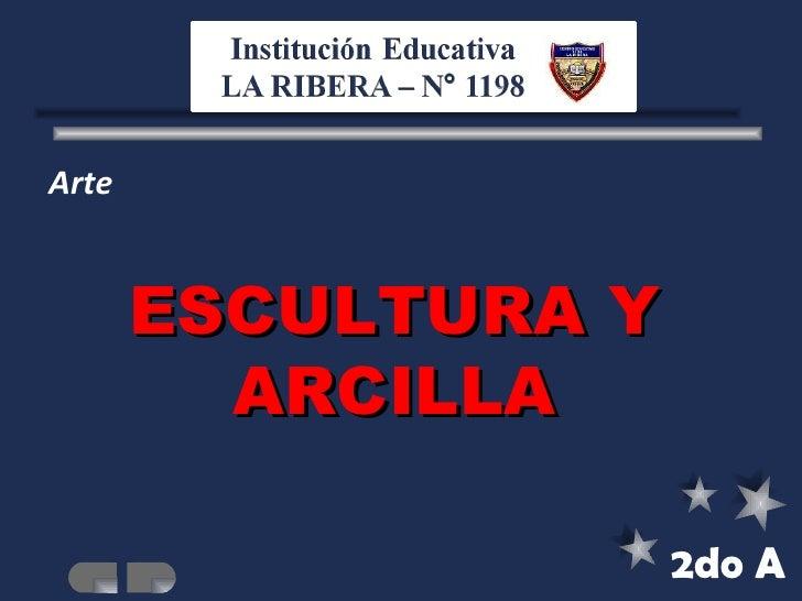 Arte 2do A ESCULTURA Y ARCILLA