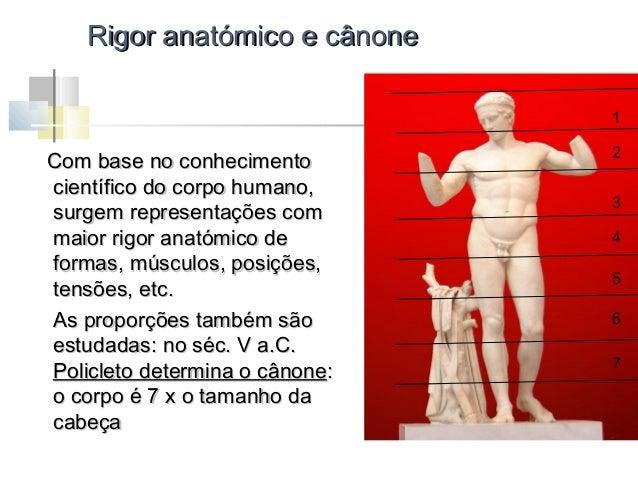 Doriforo, de Policleto Cânone de beleza  Policleto criou padrões de beleza e equilíbrio através do tamanho das estátuas qu...