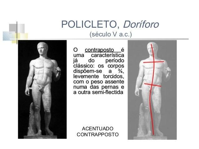 LISIPO, APOXIOMENO (séc. IV a.c.) -corpo mais esbelto -vulto redondo -elevado naturalismo -rompe com a frontalidade ao pro...