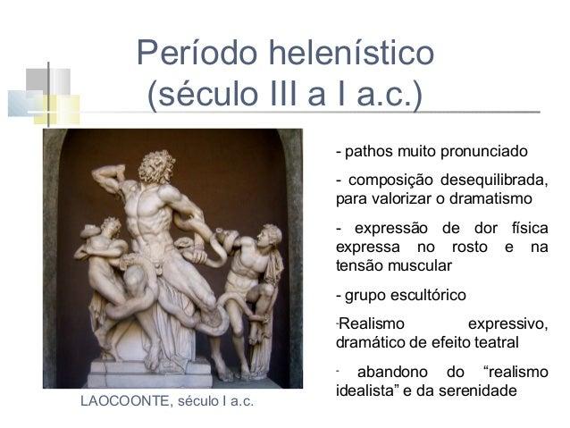 VITORIA DE SAMOTRACIA (século II a.c.) Representa uma deusa alada. É considerada uma das obras primas deste período. Capta...