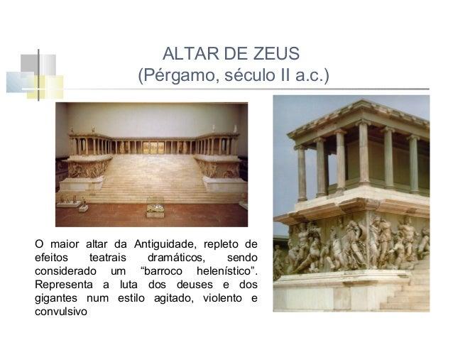 VENUS DE MILO (século II a.c.) A figura ergue-se sobre a perna direita, pousando o pé esquerdo numa espécie de degrau. Nas...