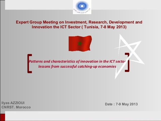 European Tunisian Conference Tunis, 18-19th February 2013Patterns and characteristics of innovation in the ICT sectorlesso...