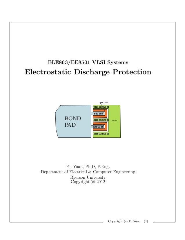 ELE863/EE8501 VLSI SystemsElectrostatic Discharge Protection                                   GATE               BOND    ...