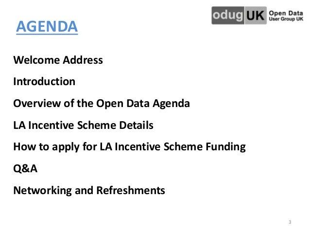 LA Open Data Incentive Scheme – launch presentation, July 2014 Slide 3