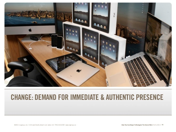 TRANSFORM YOUR BRAND.TRANSFORM YOUR BUSINESS.CHANGE: DEMAND FOR IMMEDIATE & AUTHENTIC PRESENCE ©2011 re:group, inc. | 213 ...
