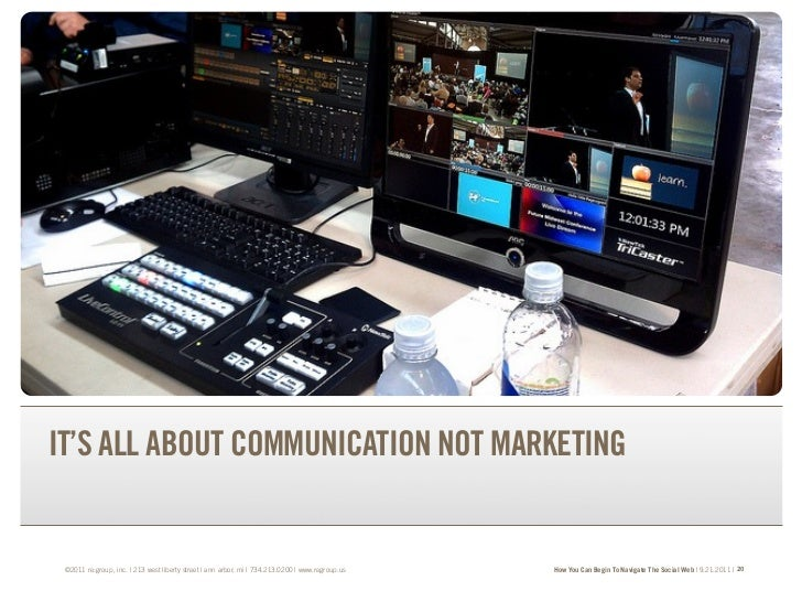 TRANSFORM YOUR BRAND.TRANSFORM YOUR BUSINESS.IT'S ALL ABOUT COMMUNICATION NOT MARKETING ©2011 re:group, inc. | 213 west li...