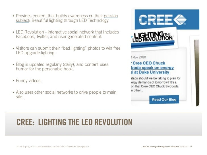 •   Provides content that builds awareness on their passion    subject: Beautiful lighting through LED Technology.•   LED ...