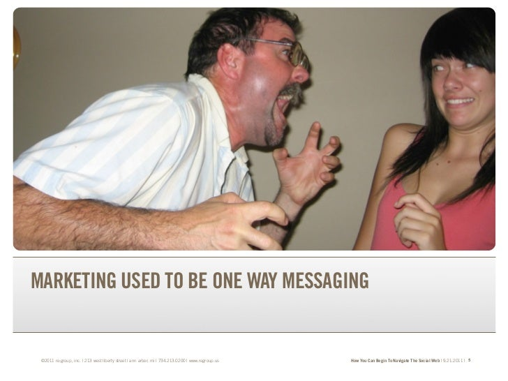 TRANSFORM YOUR BRAND.TRANSFORM YOUR BUSINESS.MARKETING USED TO BE ONE WAY MESSAGING ©2011 re:group, inc. | 213 west libert...