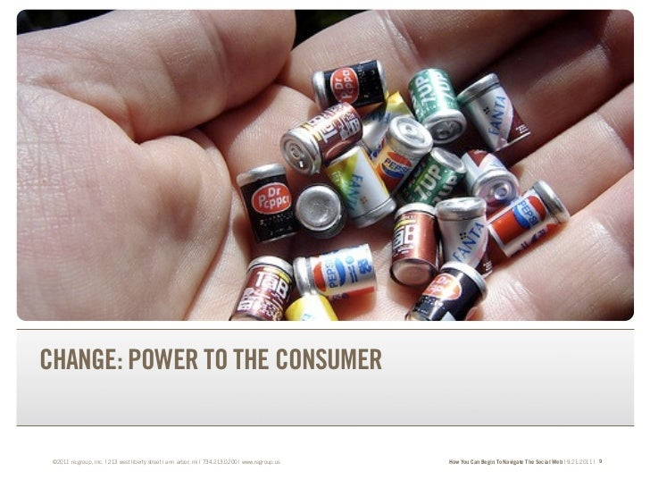 TRANSFORM YOUR BRAND.TRANSFORM YOUR BUSINESS.CHANGE: POWER TO THE CONSUMER ©2011 re:group, inc. | 213 west liberty street ...