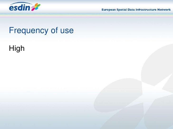 Frequency of use <ul><li>High </li></ul>