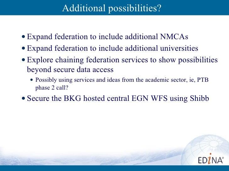 Additional possibilities? <ul><li>Expand federation to include additional NMCAs </li></ul><ul><li>Expand federation to inc...