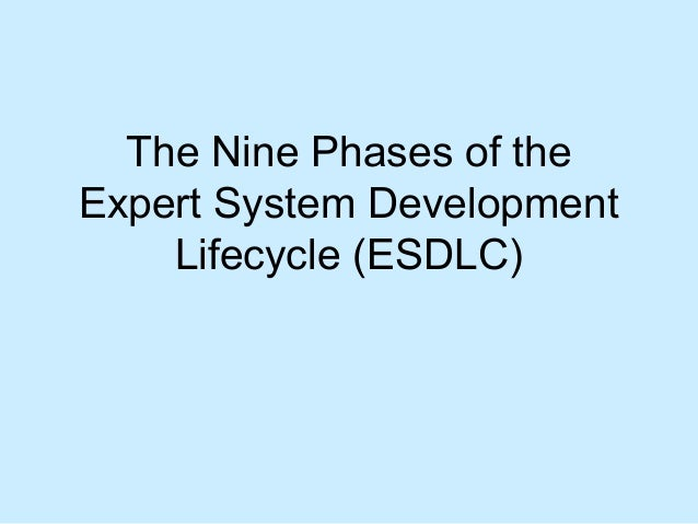 The Nine Phases of the Expert System Development Lifecycle (ESDLC)