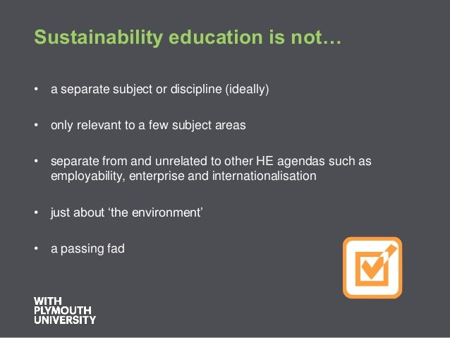 Education For Sustainable Development London