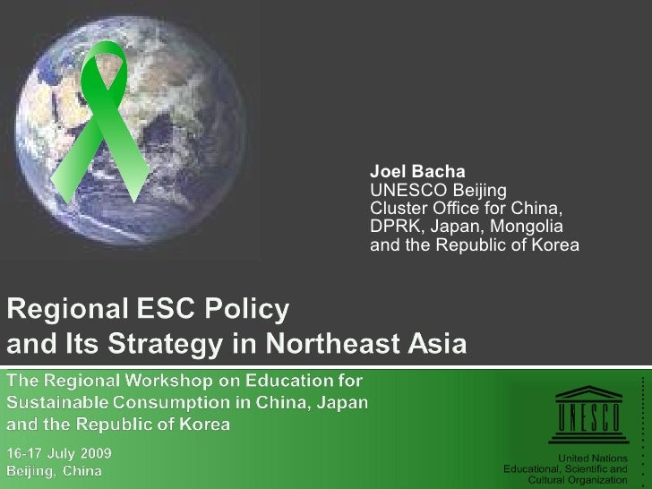 Joel Bacha UNESCO Beijing Cluster Office for China, DPRK, Japan, Mongolia and the Republic of Korea