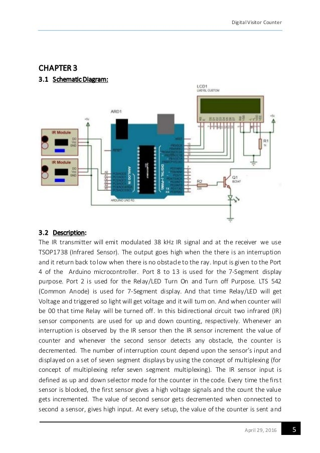 infrared circuit diagram a report on bidirectional visitor counter using ir sensors  a report on bidirectional visitor counter using ir sensors