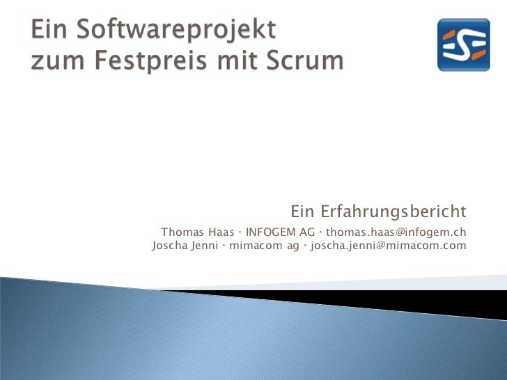 ein softwareprojekt zum festpreis mit scrum. Black Bedroom Furniture Sets. Home Design Ideas
