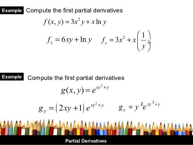X y partial derivative