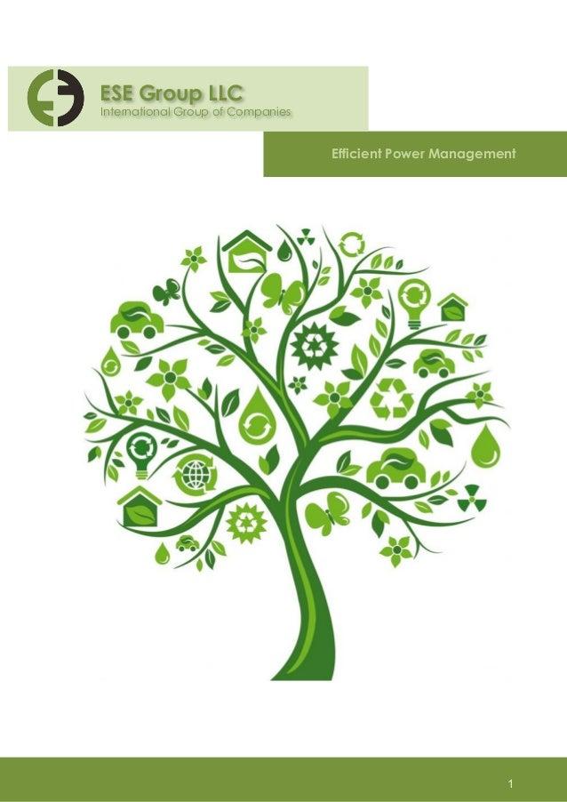 ESE Group LLC  International Group of Companies  Efficient Power Management  1
