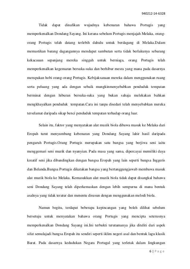 Esei Sejarah Dondang Sayang Pbs Sejarah Stpm Penggal 2