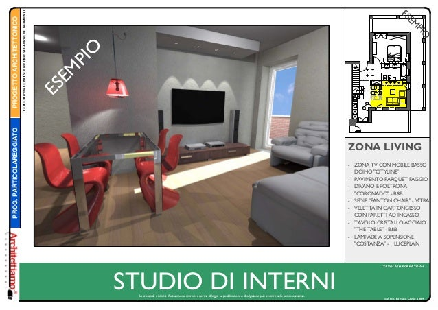 """© Arch.Tomaso Clivio 2009 STUDIO DI INTERNI TAVOLA IN FORMATO A4 ZONA LIVING - ZONA TV CON MOBILE BASSO DOIMO """"CITYLINE"""" -..."""