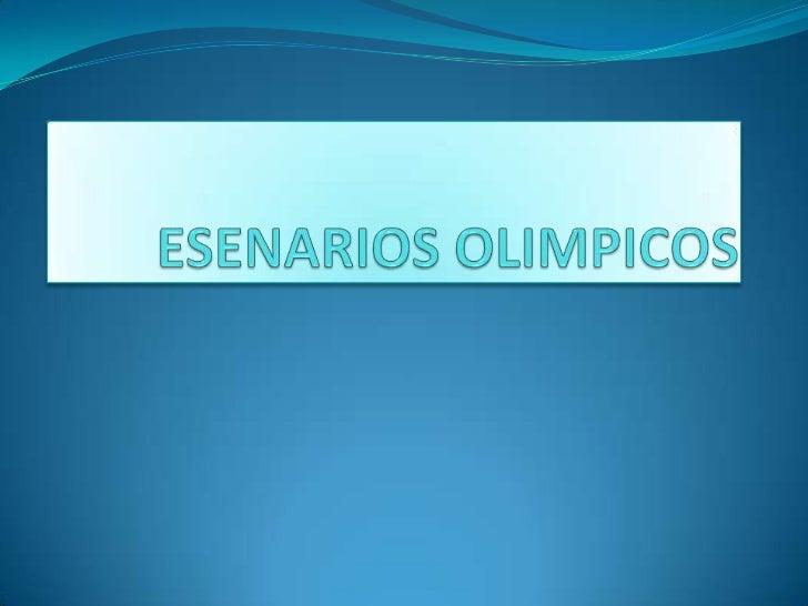 ESENARIO DEPORTIVO ESTADIO             DE LONDRES   El Estadio Olímpico (Olympic Stadium) será la sede de    los eventos ...