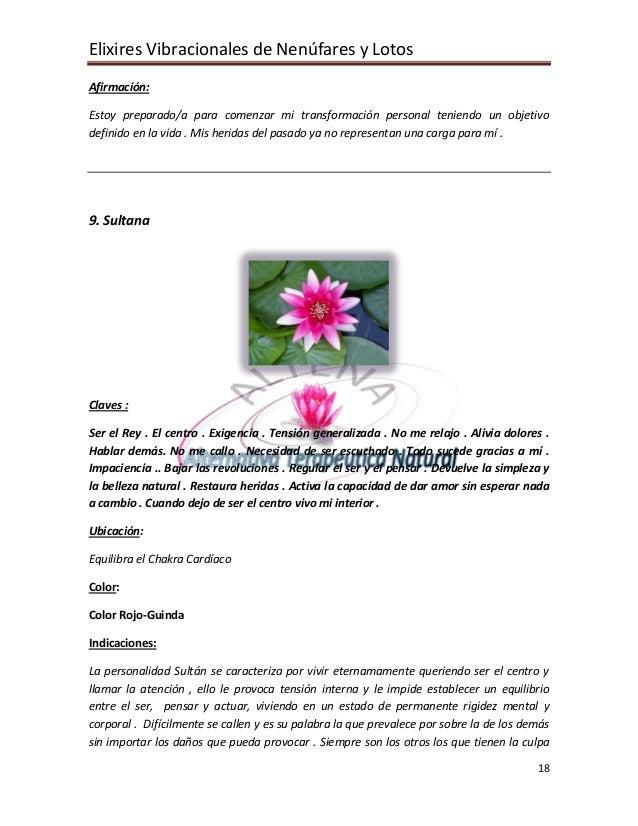 Elixires Vibracionales de Nenúfares y Lotos Afirmación:  Estoy preparado/a para comenzar mi transformación personal tenien...
