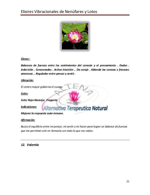 Elixires Vibracionales de Nenúfares y Lotos     Claves :  Balanceo de fuerzas entre los sentimientos del corazón y el pens...