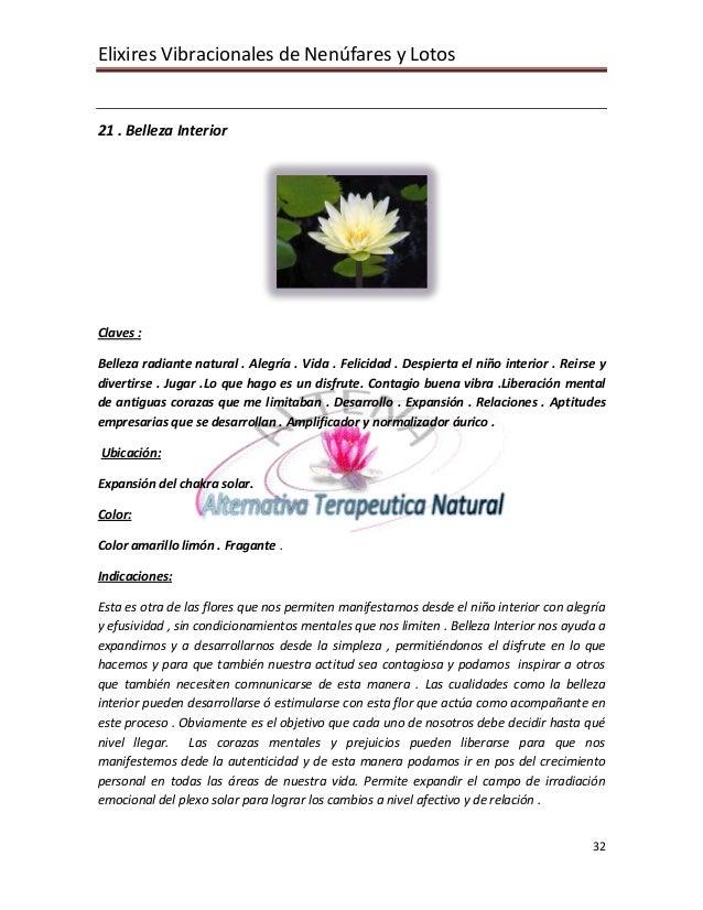Elixires Vibracionales de Nenúfares y Lotos   21 . Belleza Interior     Claves :  Belleza radiante natural . Alegría . Vid...