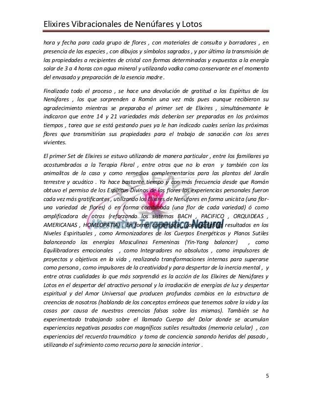 Elixires Vibracionales de Nenúfares y Lotos hora y fecha para cada grupo de flores , con materiales de consulta y borrador...