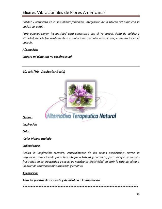 Elixires Vibracionales de Flores Americanas 13 Calidez y respuesta en la sexualidad femenina. Integración de la tibieza de...