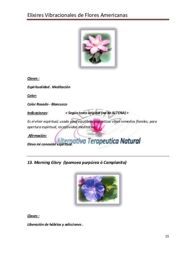 Elixires Vibracionales de Flores Americanas 15 Claves : Espiritualidad . Meditación Color: Color Rosado - Blancuzco Indica...